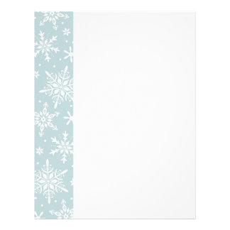 light blue snowflake letterhead