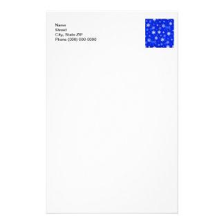 Light Blue Snowflakes Customized Stationery
