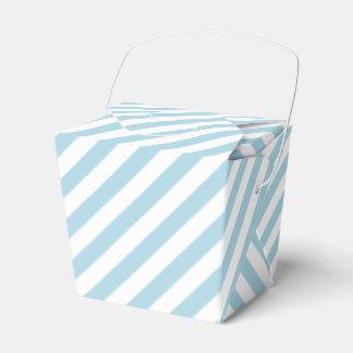 Light Blue Stripes Favor Box