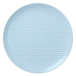 Light Blue Stripes. Plate