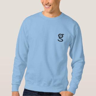 Light Blue Sweatshirt w Black Embroidered Logo