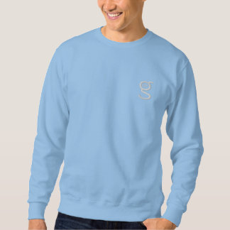 Light Blue Sweatshirt w White Embroidered Logo