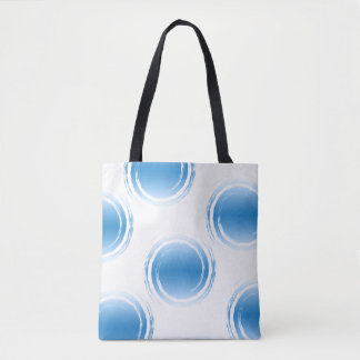 Light Blue Swirling Circles On White Background Tote Bag