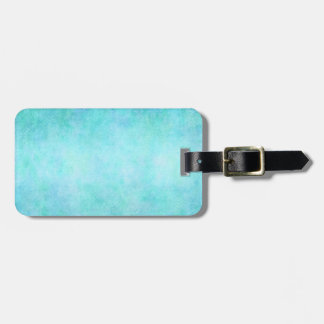 Light Blue Teal Aqua Watercolor Paper Colorful Luggage Tag