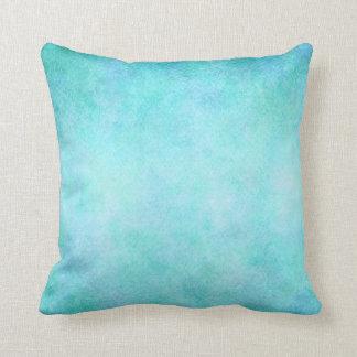 Light Blue Teal Aqua Watercolor Paper Colorful Throw Pillow