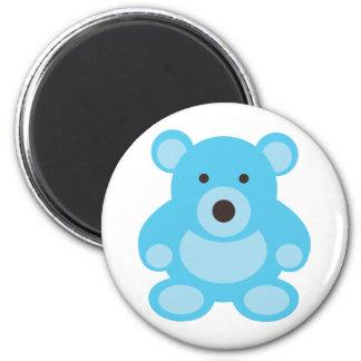 Light Blue Teddy Bear 2 Inch Round Magnet