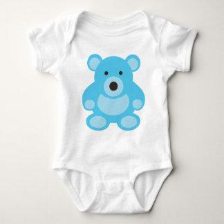 Light Blue Teddy Bear Baby Bodysuit