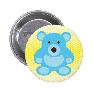 Light Blue Teddy Bear Pinback Buttons