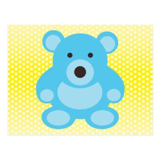Light Blue Teddy Bear Postcard