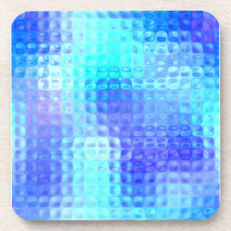 Light Blue Textured Glass Coaster