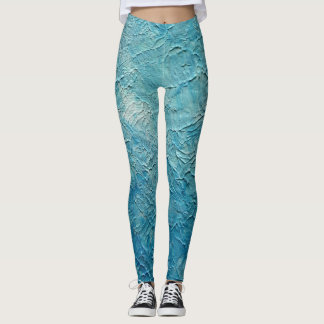 Light Blue Textured Leggings