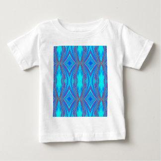 Light Blue Turquoise Diamonds Pattern Baby T-Shirt