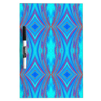 Light Blue Turquoise Diamonds Pattern Dry Erase Board