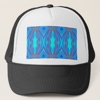 Light Blue Turquoise Diamonds Pattern Trucker Hat
