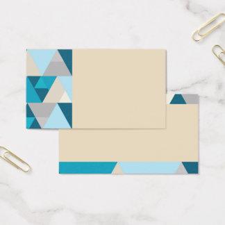 Light Blue/Vanilla Geometric Business Cards