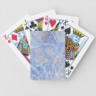 Light Blue Veined Grey Marble Bicycle Playing Cards