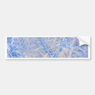 Light Blue Veined Grey Marble Bumper Sticker