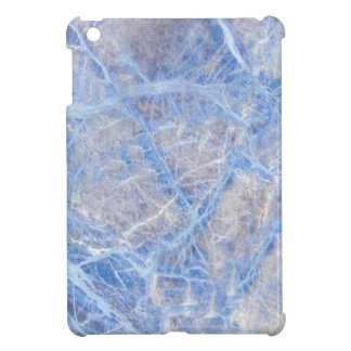 Light Blue Veined Grey Marble Case For The iPad Mini