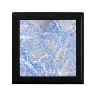 Light Blue Veined Grey Marble Gift Box