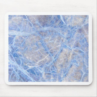 Light Blue Veined Grey Marble Mouse Pad