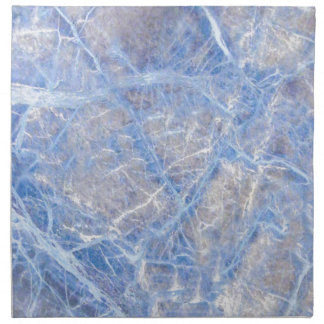 Light Blue Veined Grey Marble Napkin