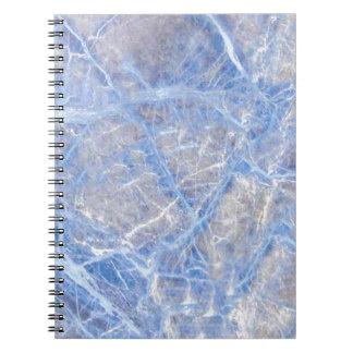 Light Blue Veined Grey Marble Notebooks
