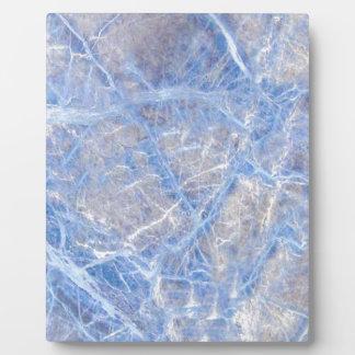 Light Blue Veined Grey Marble Plaque