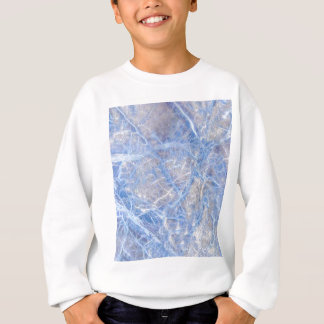 Light Blue Veined Grey Marble Sweatshirt