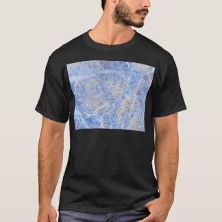 Light Blue Veined Grey Marble T-Shirt