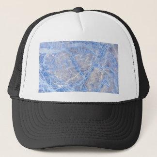 Light Blue Veined Grey Marble Trucker Hat