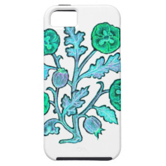 Light Blue Vintage Embroidery Style Flowers iPhone 5 Cover