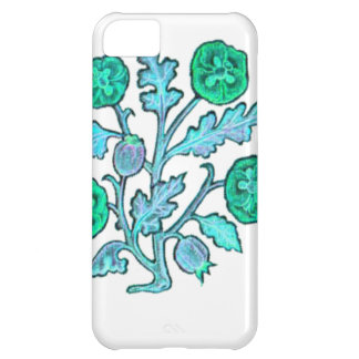 Light Blue Vintage Embroidery Style Flowers iPhone 5C Cover