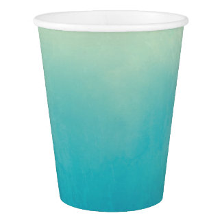 Light Blue Watercolor Abstract Art Paper Cups