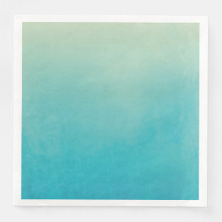 Light Blue Watercolor Abstract Art Paper Napkins