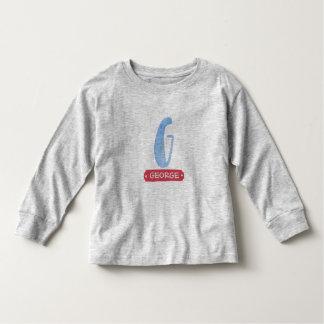 Light blue Watercolor letter G - custom name Toddler T-shirt