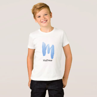 Light blue watercolor letter M - custom name T-Shirt