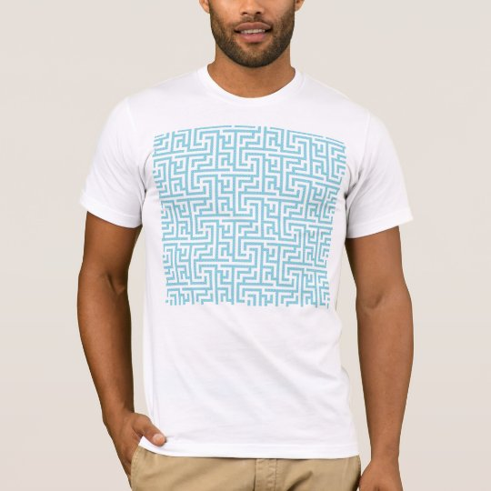 Light Blue & White Labyrinth T-Shirt