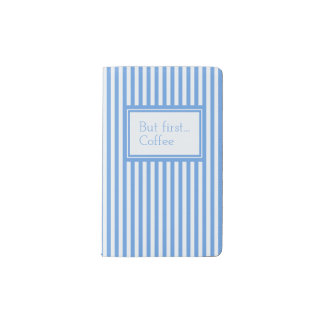 Light Blue & White Sailor Stripes MOLESKINE Pocket Moleskine Notebook