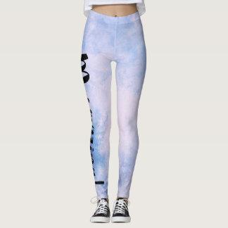 Light Blue-White Textured Mermazing Mermaid Leggings