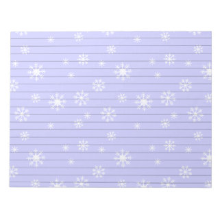Light Blue With Snowflakes Notepad