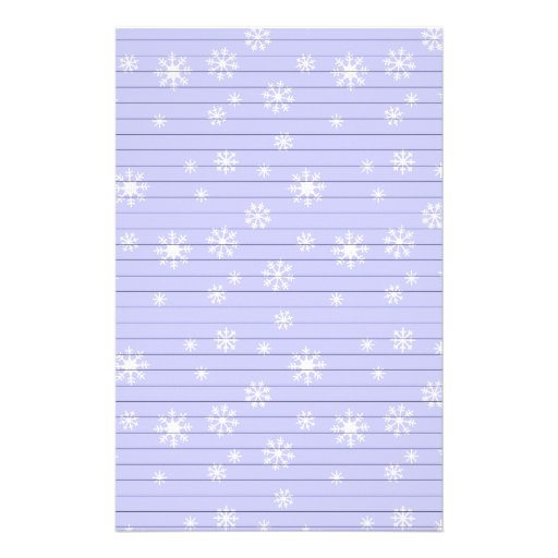 Light Blue With Snowflakes Stationery Design