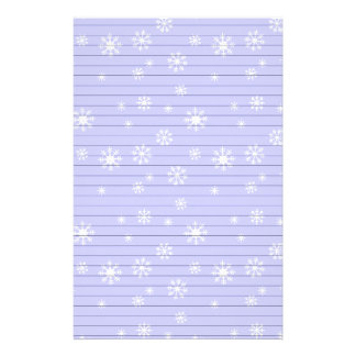 Light Blue With Snowflakes Stationery Paper