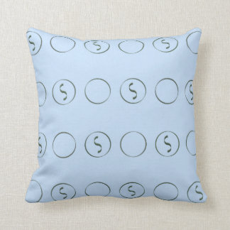 Light Blue with Squiggles Pillow