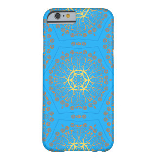 light blue & yellow floral geometric barely there iPhone 6 case