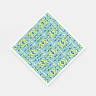 Light Blue Yellow Paper Party Drink Napkins Disposable Napkins