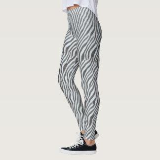 Light Blue Zebra Animal Print Pattern Leggings