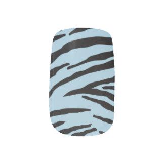 Light Blue Zebra Minx® Nail Wraps