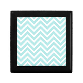 Light blue Zigzag pattern Jewelry Box
