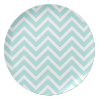 Light blue Zigzag pattern Plate