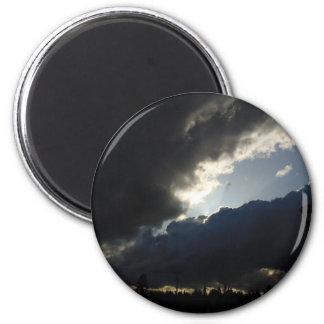 Light Breaks Through 2 Inch Round Magnet